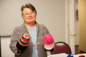 Knitted-donation-helps-with-grief